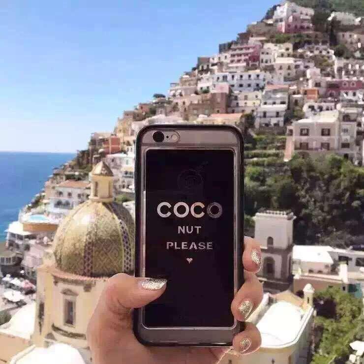 Coque iPhone 6s 6s plus Coco Chanel acrylique rose/noir acaht sur www.lelinker.fr