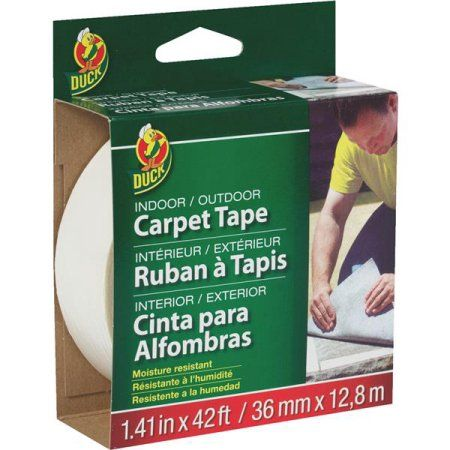 Ducka Brand Indoor Outdoor Carpet Tape White 1 41 In X 42 Ft Walmart Com In 2020 Carpet Tape Indoor Outdoor Carpet Outdoor Carpet
