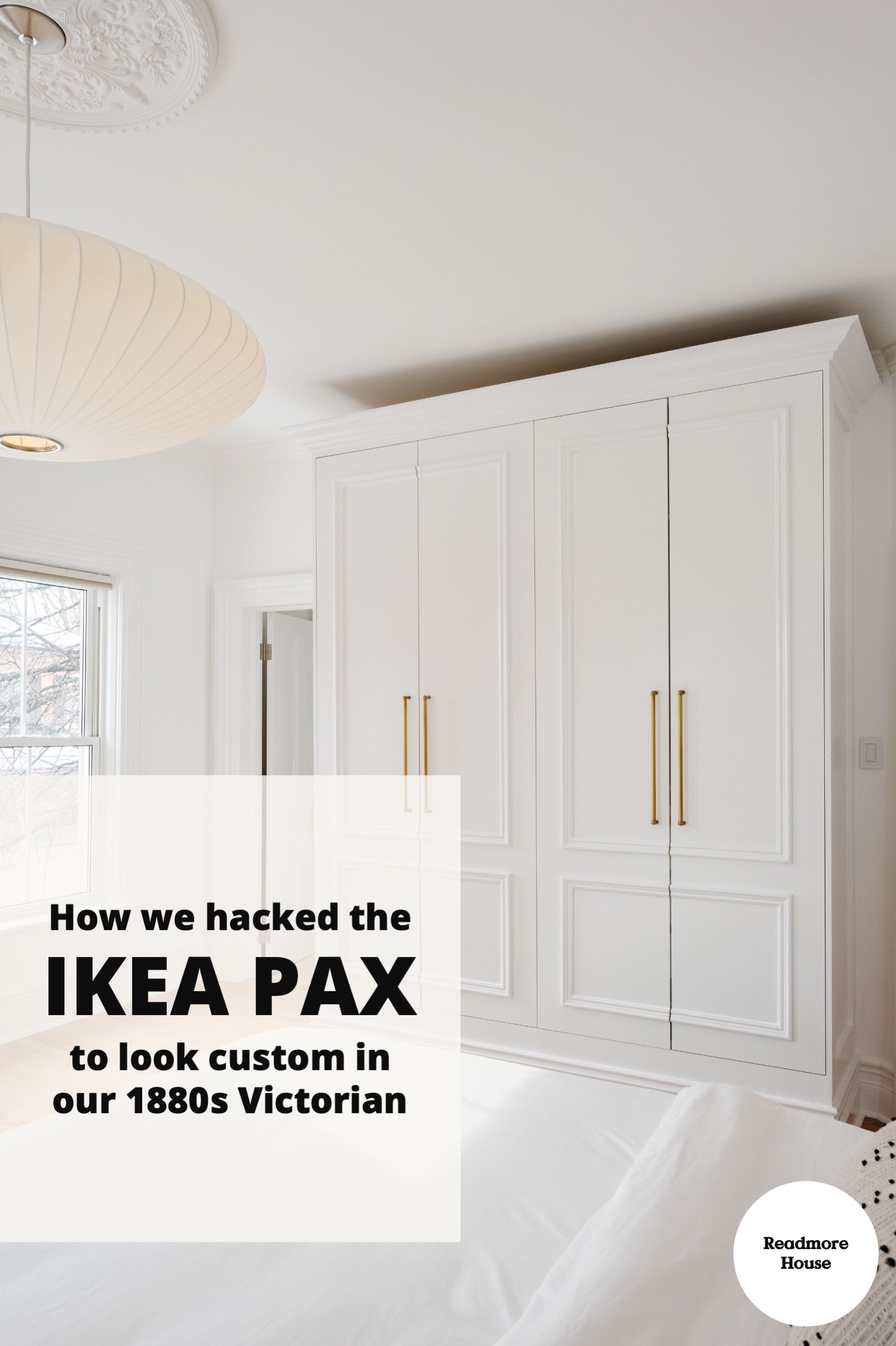 How we hacked Ikea PAX to add a closet in our Victorian home