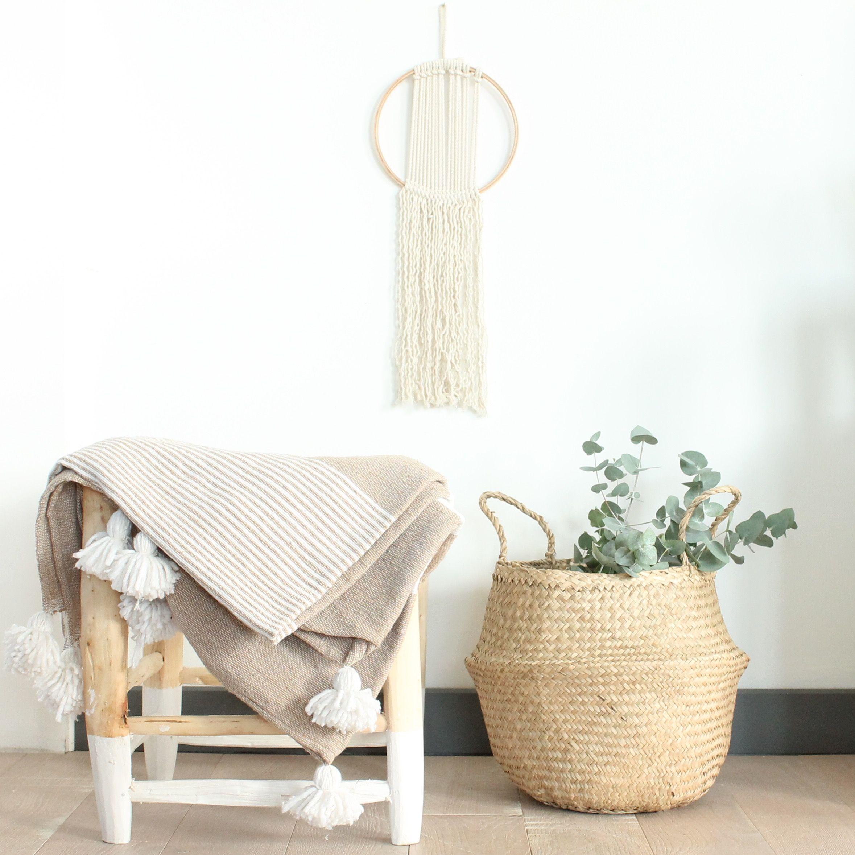 panier boule plaid pompons marocain et attrape r ves madam stoltz b a s k e t s s t o r a. Black Bedroom Furniture Sets. Home Design Ideas