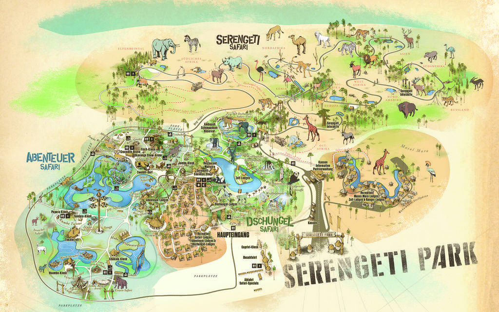 Anfahrtsbeschreibung Serengeti Park Hodenhagen Park Ausflug