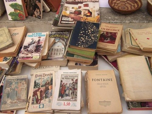 Second hand bookshop in a little village in Southern France.