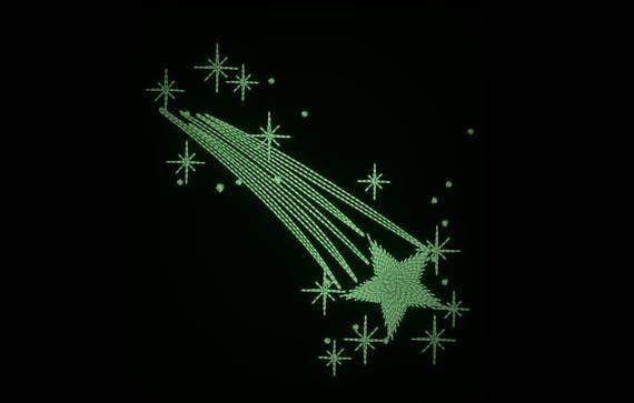 Comet Falling Star Glow In The Dark Embroidery Glow In The Dark