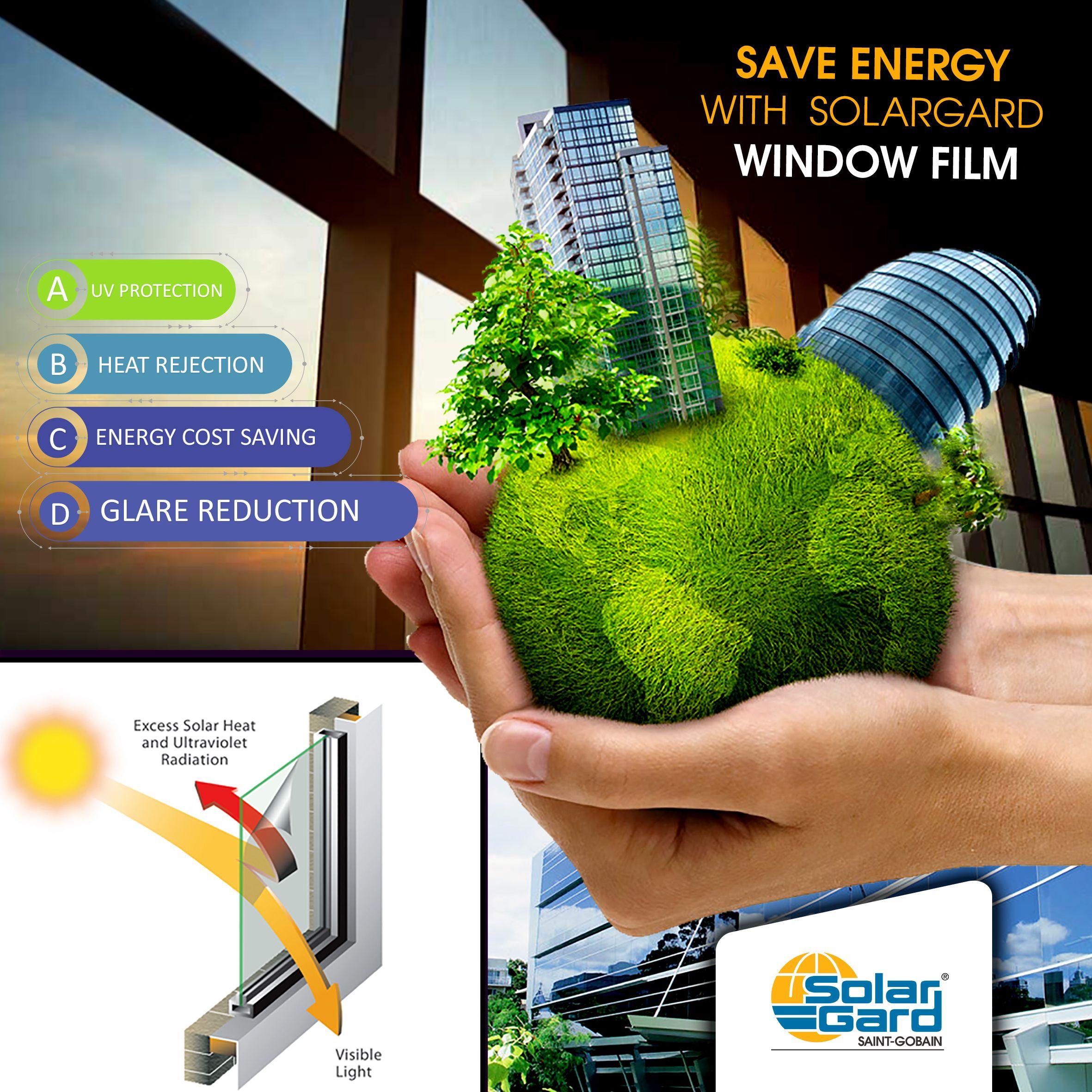 سولر جارد وفر الطاقة و استمتع ببيئة افضل بدوk Uv أشعة الشمس فوق بنفسجية و بدون حرارة فوق المعتاد تزعجك اينما ك Visible Light Energy Cost Save Energy