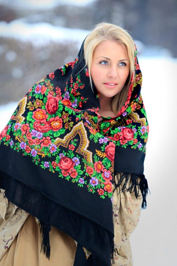 стихи про платок русский