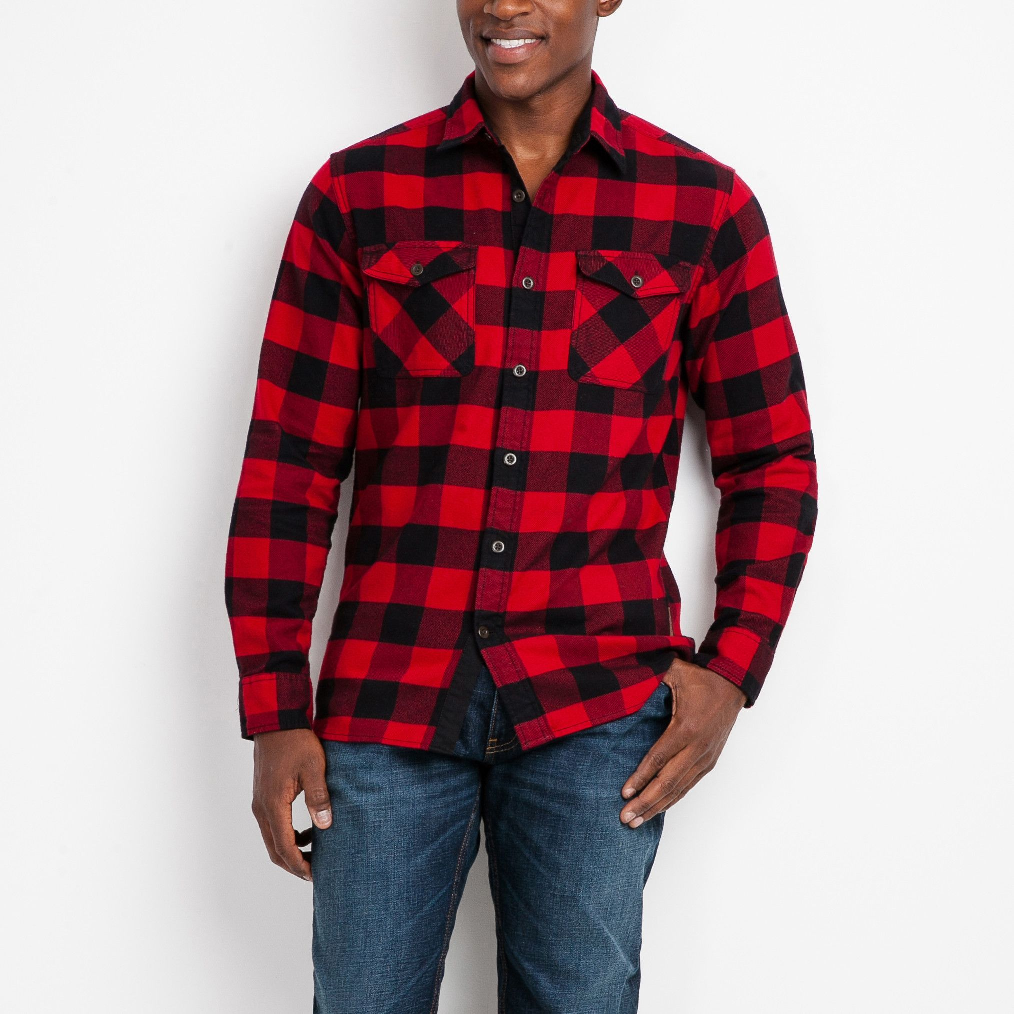 Men's Algonquin Flannel Shirt Roots Shirts for Men (With