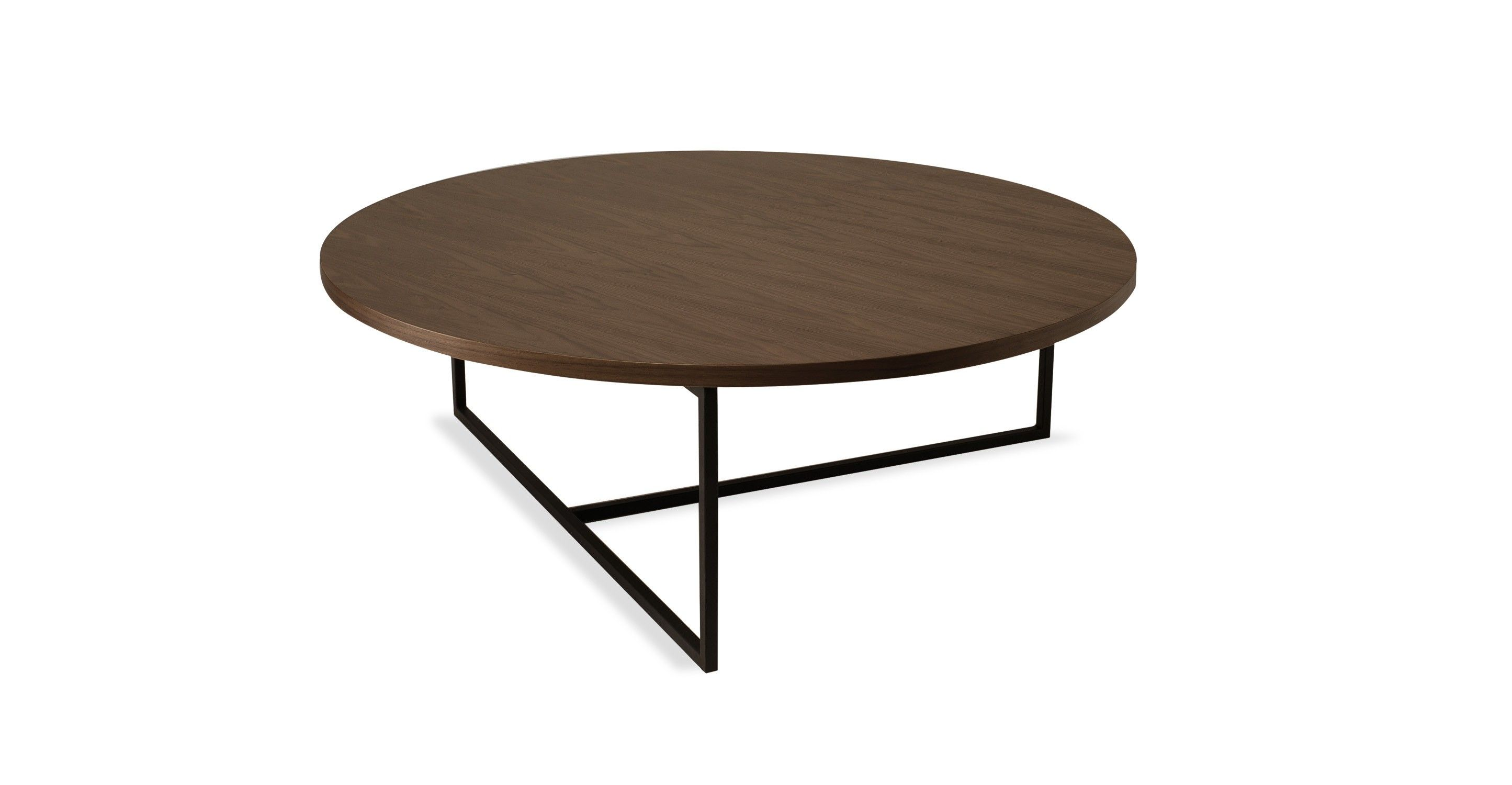 Turner Walnut Round Coffee Table Coffee Tables Bryght Modern
