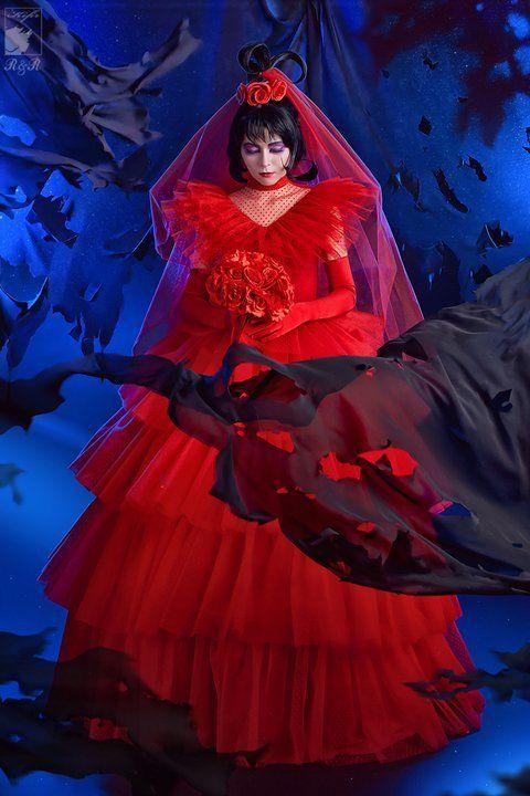 Lydia Deetz Wedding Dress Beetlejuice Wedding Dark Wedding Red