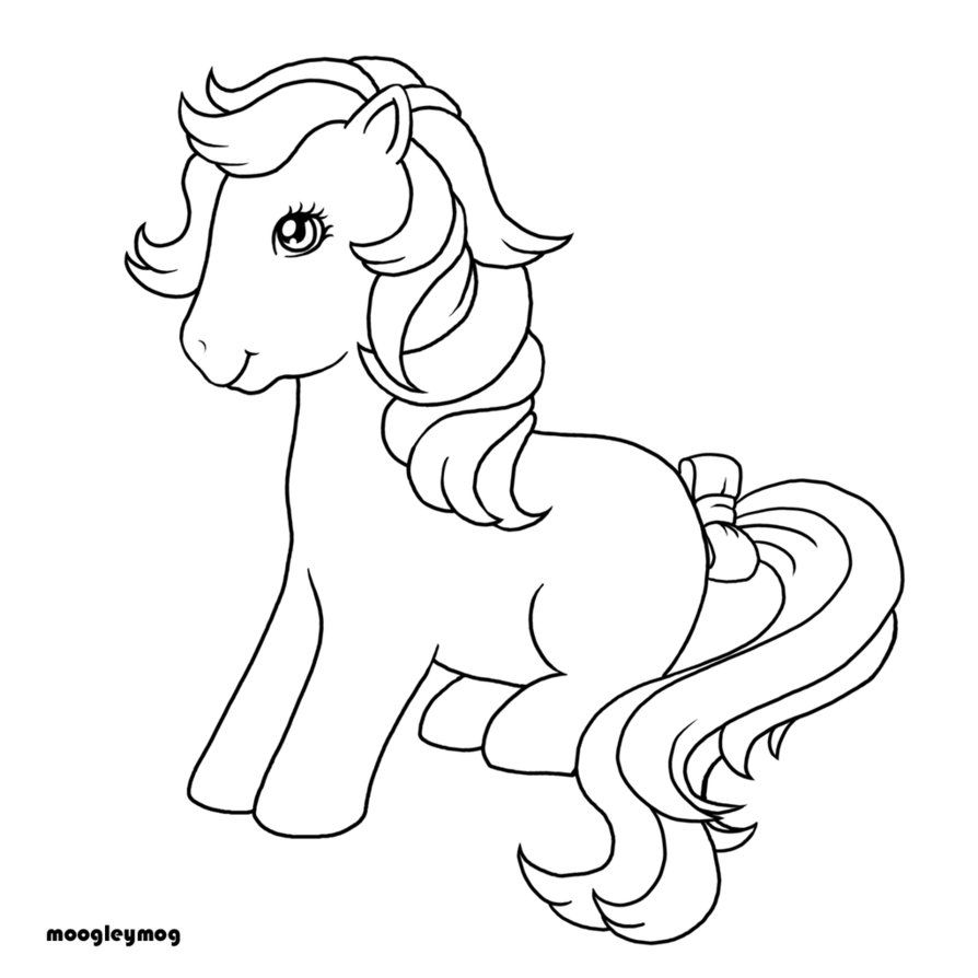 Vintage my little pony coloring pages - My Little Pony G1 Coloring Pages Bubbles Pony Derpy Adopt Adoptables