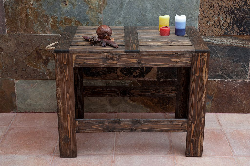 Mesa de terraza con madera de palets reciclada pallets - Mesa de palets bricolaje ...