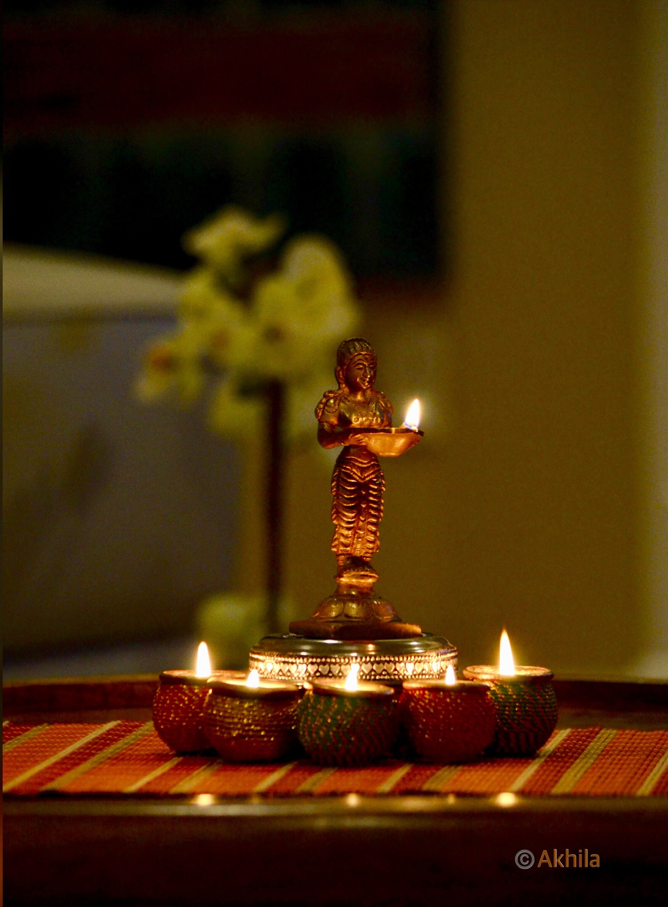 Idea by Maha Yadavalli on Diwali Home decor, Brass lamp