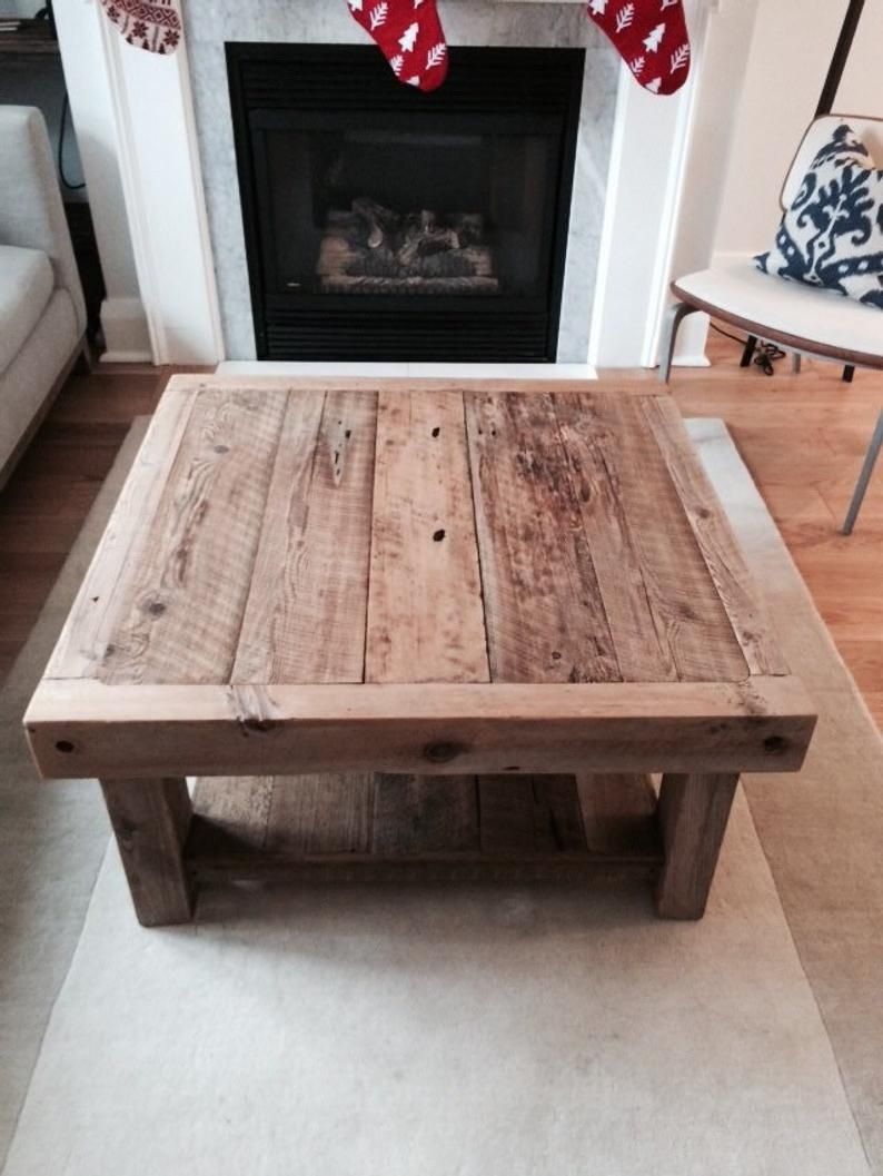 Reclaimed Barnboard Coffee Table 36x36 Feb 2021 Completion Etsy Coffee Table Coffee Table Out Of Pallets Table [ 1057 x 794 Pixel ]