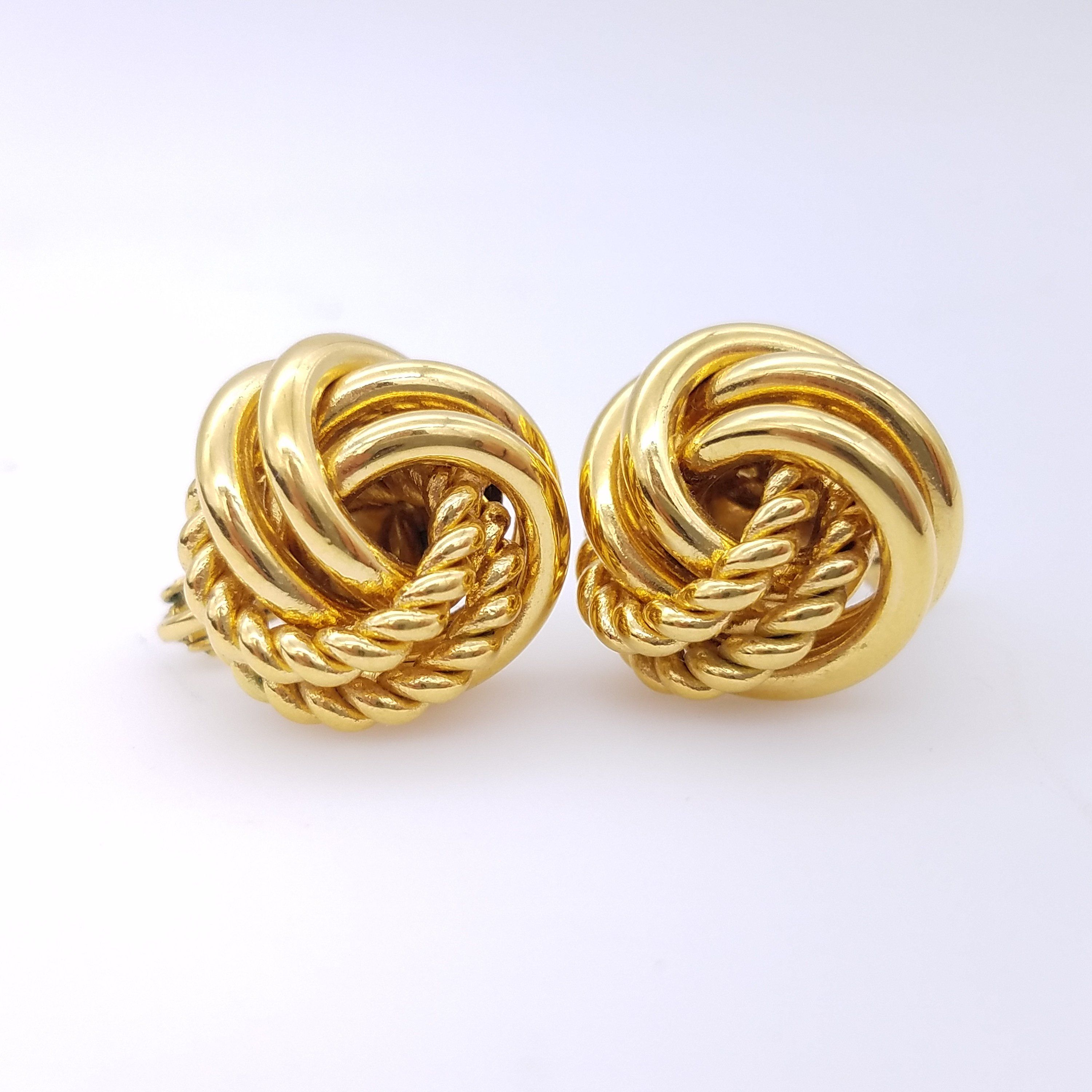 34b0d931e Vintage Signed Napier Gold-Tone Rope Knot Earrings With Screw/Clip Combo  Clasp by ThingsGrandmaKept1 on Etsy #napier #napierjewelry #clipearrings ...