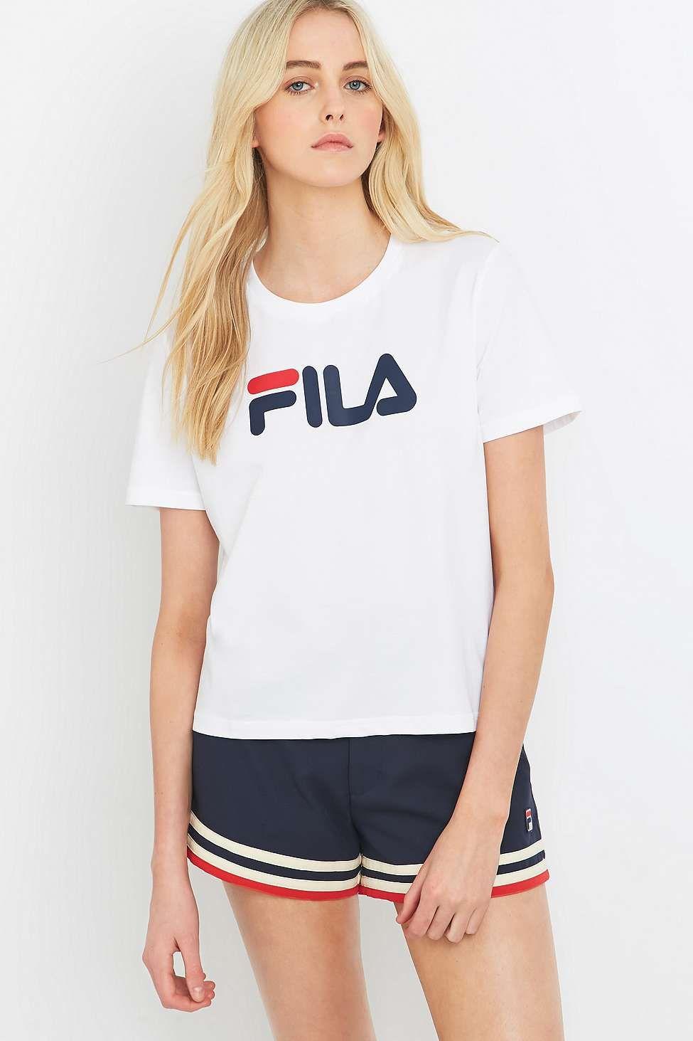 Fila Miss Eagle Logo White T shirt