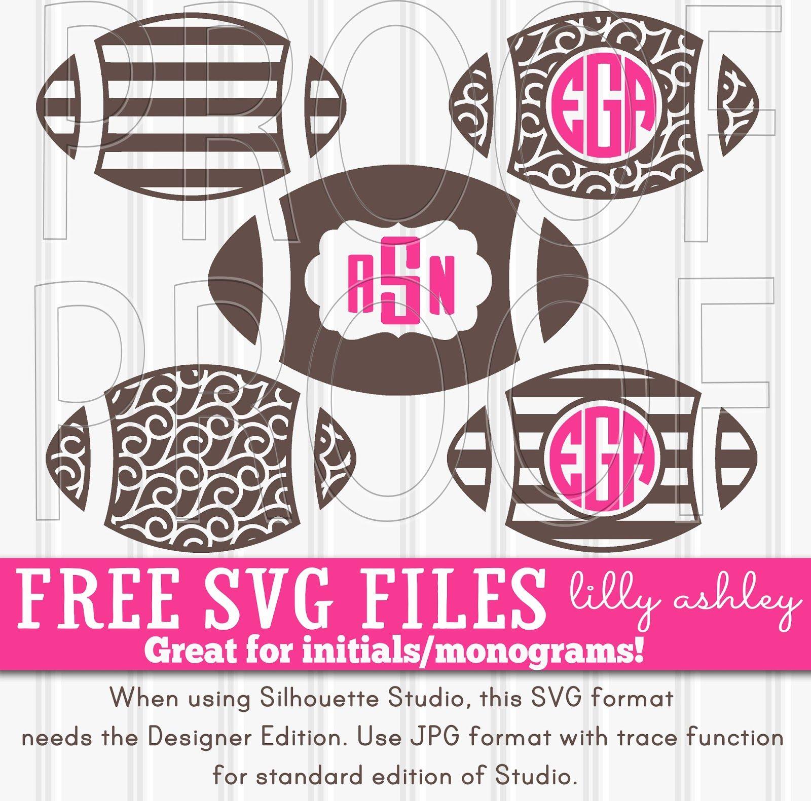 Freebie Svg Files For Super Bowl Cricut Monogram Monogram Fonts