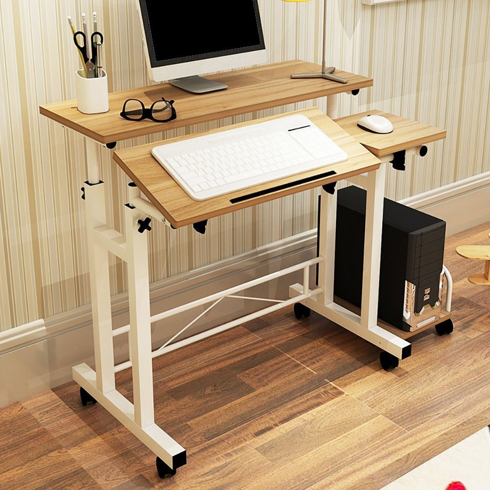 Haushalt Computer Schreibtisch Mit Tastatur Regal Einstellbaren  Computertisch PC Schreibtisch Für Home Office Einsatz