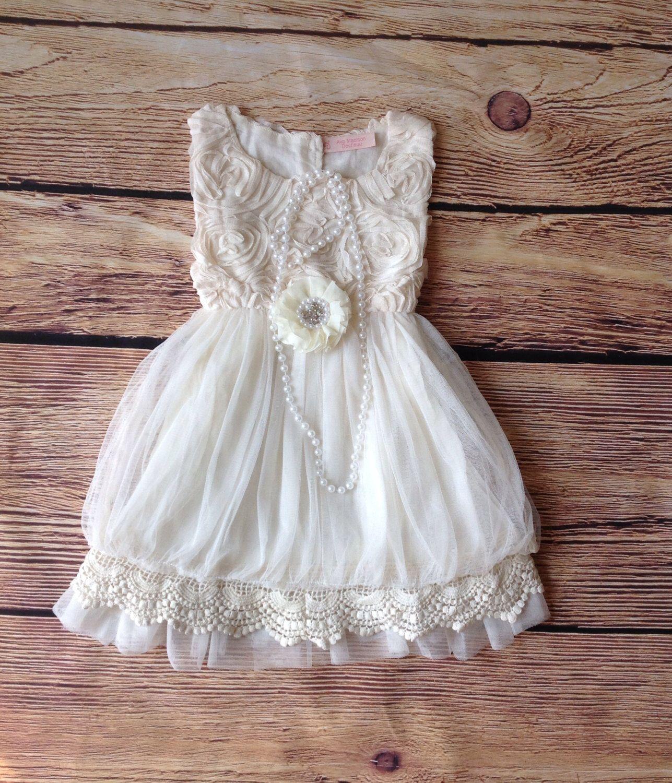 Ivory Toddler Girls Dress, Vintage Toddler Girls Dress, Ivory Flower Girl Dress, Rustic Wedding, Birthday Dress, Beach Wedding by AvaMadisonBoutique on Etsy https://www.etsy.com/listing/202359838/ivory-toddler-girls-dress-vintage