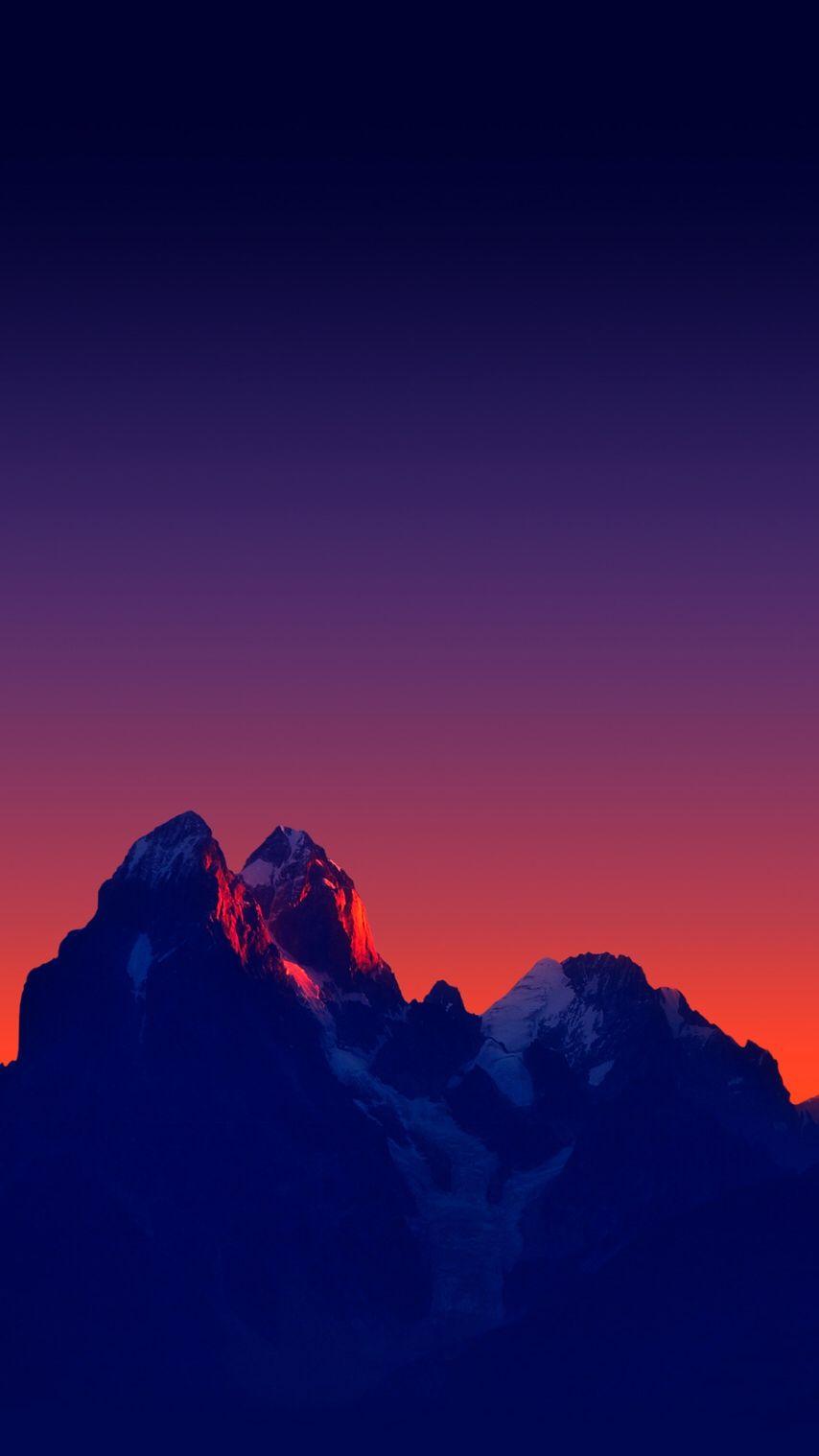 Mountains Minimal Sunset IPhone Wallpaper - IPhone Wallpapers