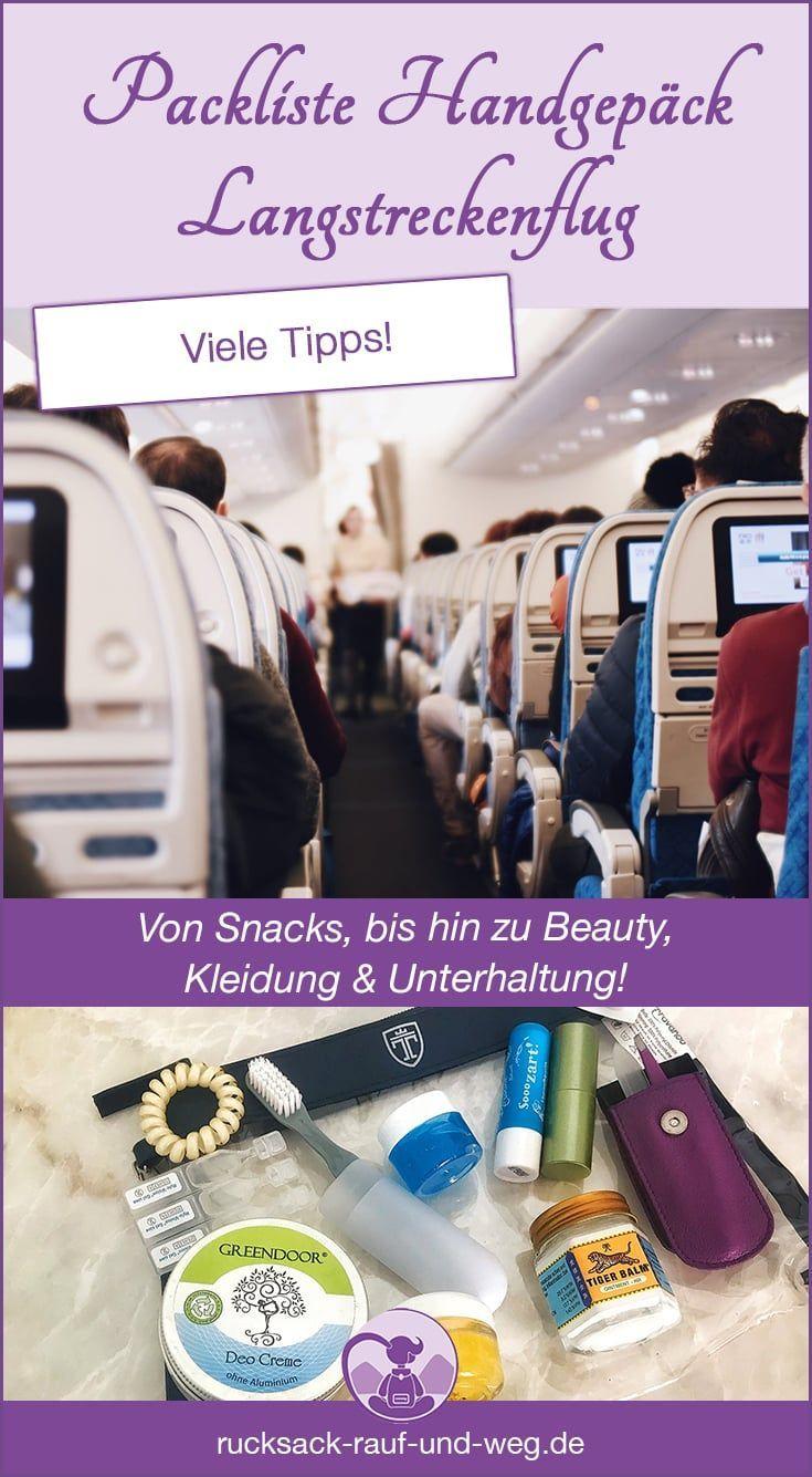 Packliste Handgepäck Langstreckenflug: Das muss mit! #handluggage