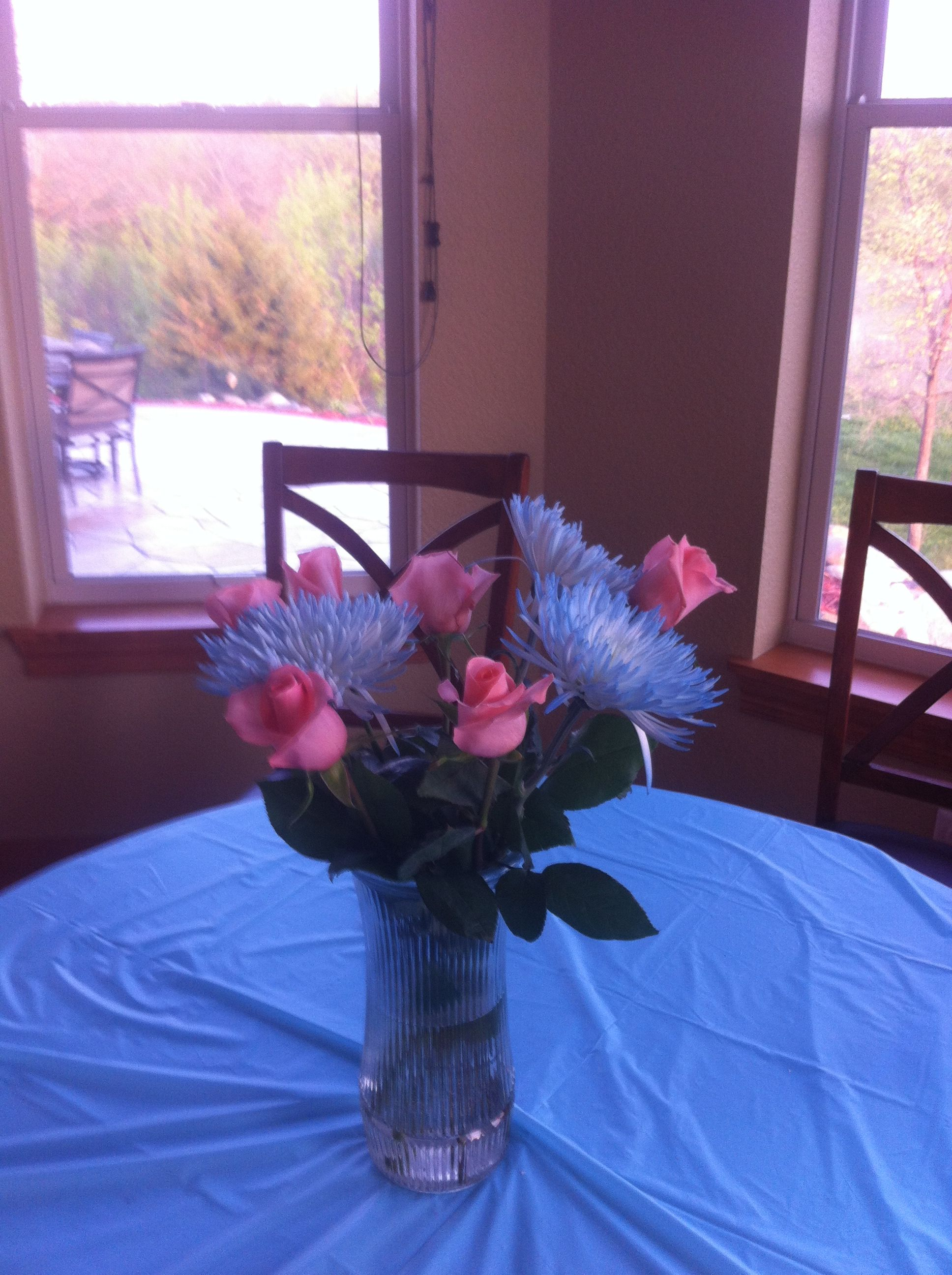 Pinkblue Flower Bouquets For Twins Gender Reveal Party I Had 2
