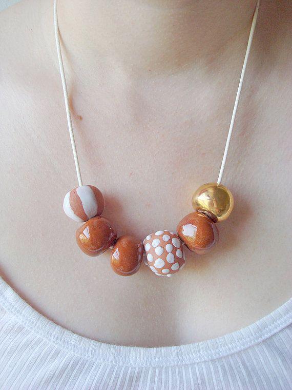 DIGOYO by Juliet Gorman ceramic bead necklace $70.00