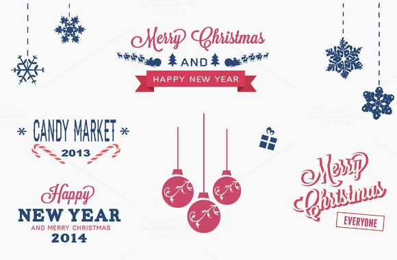 Check out Christmas badges and elements by Dana Rizescu on Creative Market