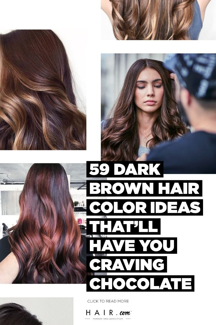 The Best 71 Dark Brown Hair Color Ideas For 2021 Hair Com By L Oreal Brown Hair Colors Dark Brown Hair Hair