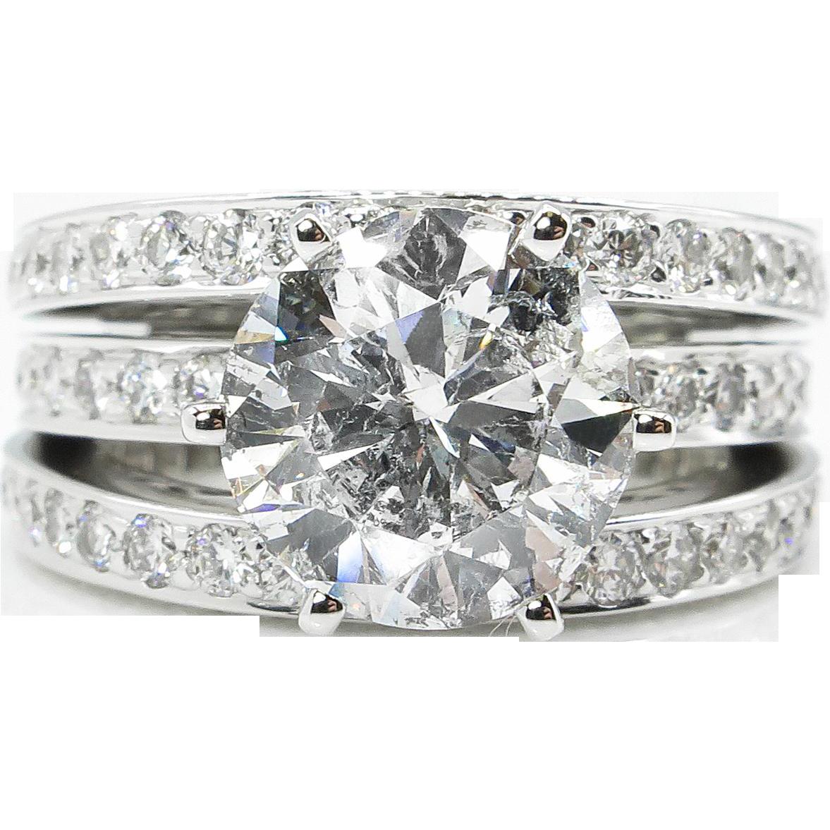 Diamond Engagement 18k White Gold Ring