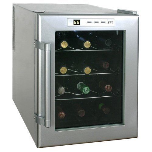 12 Bottle Mini Wine Refrigerator Cooler Compact Countertop