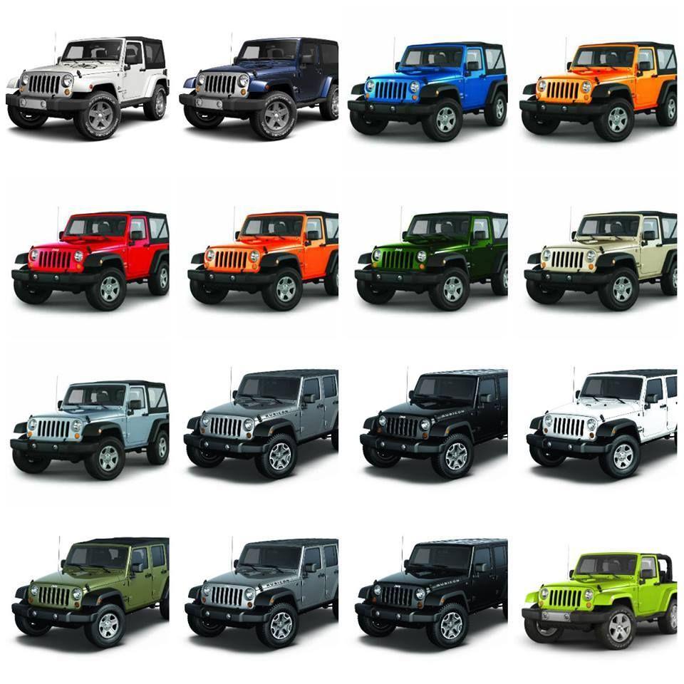 Great jeep wrangler color chart http ift ekq  also rh pinterest