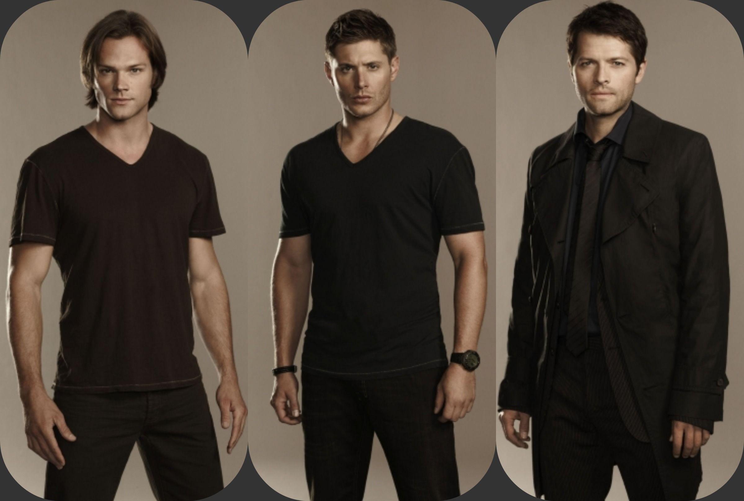 A promo shot of Jared, Jensen & Misha.