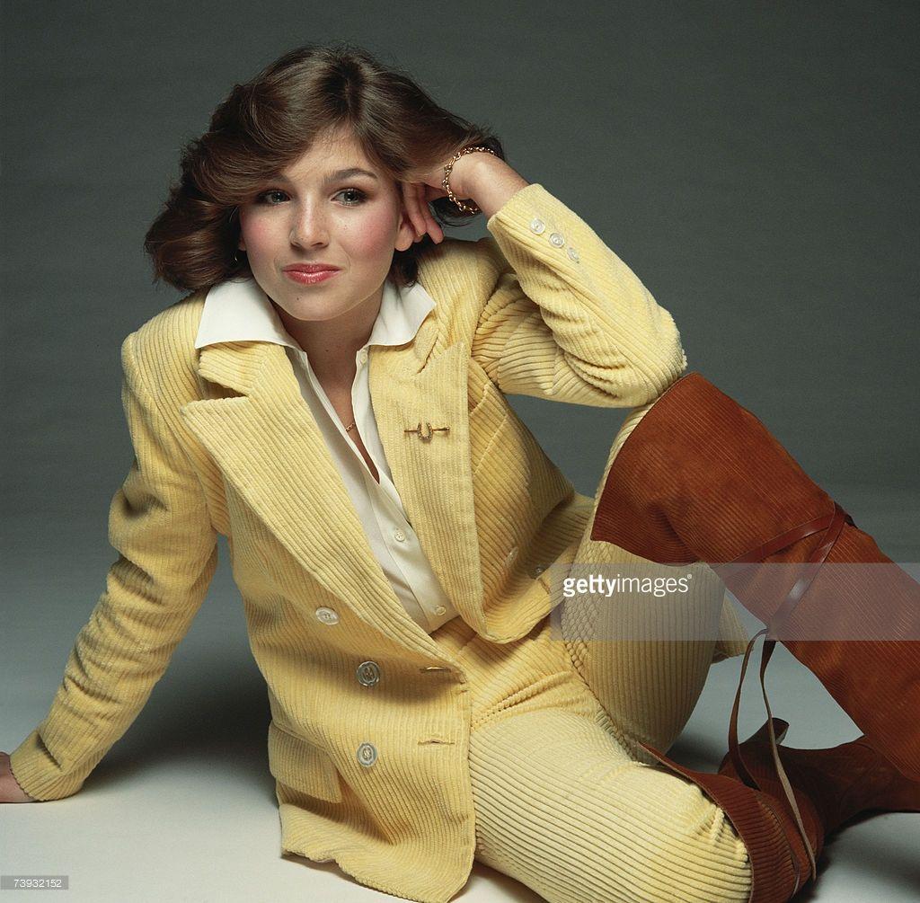 Altes vintage foto hübscher Frau Street Fhoto  1970s Style