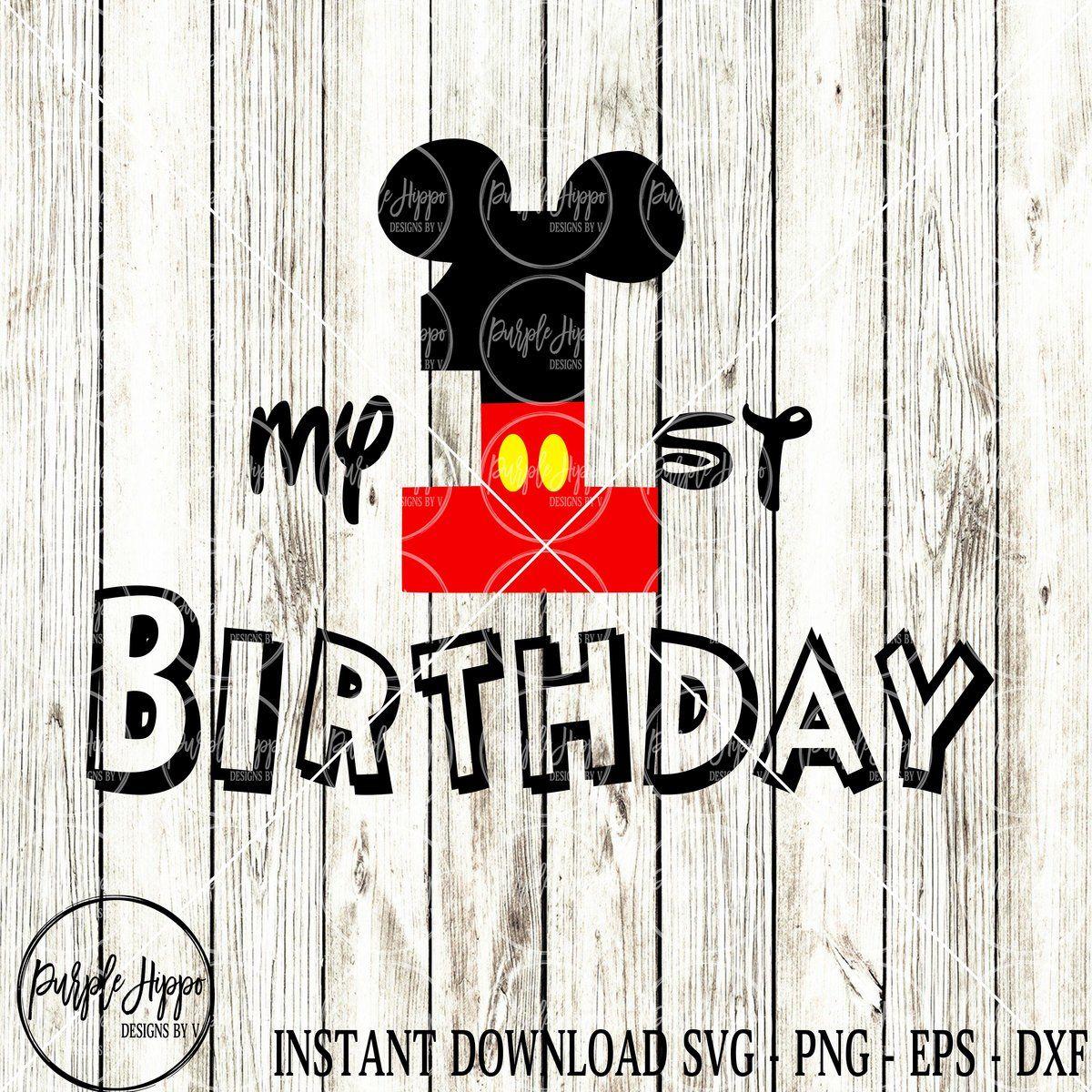 First Birthday Boy Mickey Svg Boy first birthday, Mickey