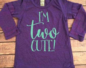 4c5078f670fb I'm TWO Cute Second Birthday Racerback Birthday Shirt by SnowSew ...