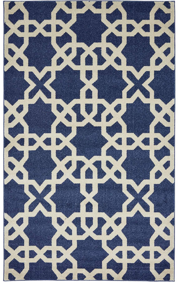 Bridgeport Home Arbor Arb5 Navy Blue 5 X 8 Area Rug In 2019 Rugs Kids Rugs Contemporary Area Rugs