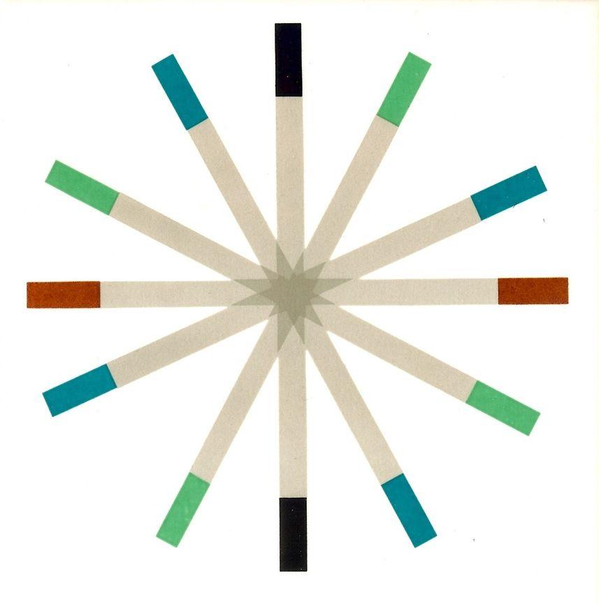 Roulette ceramic tile, Paul McCobb for Pomona Tile 1961