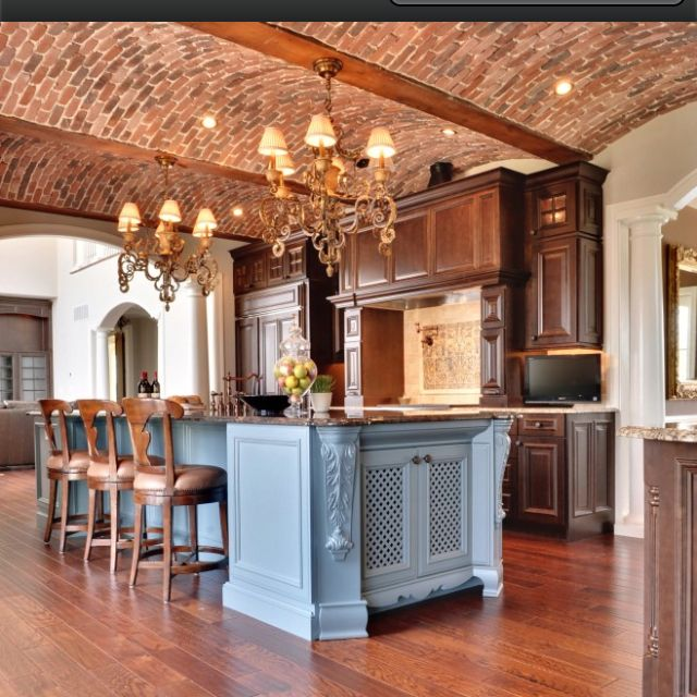 I love the brick used in the arched ceilings!