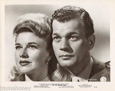 GINGER ROGERS JOSEPH COTTEN vintage 1940s ORIGINAL I'LL BE SEEING YOU Film Photo