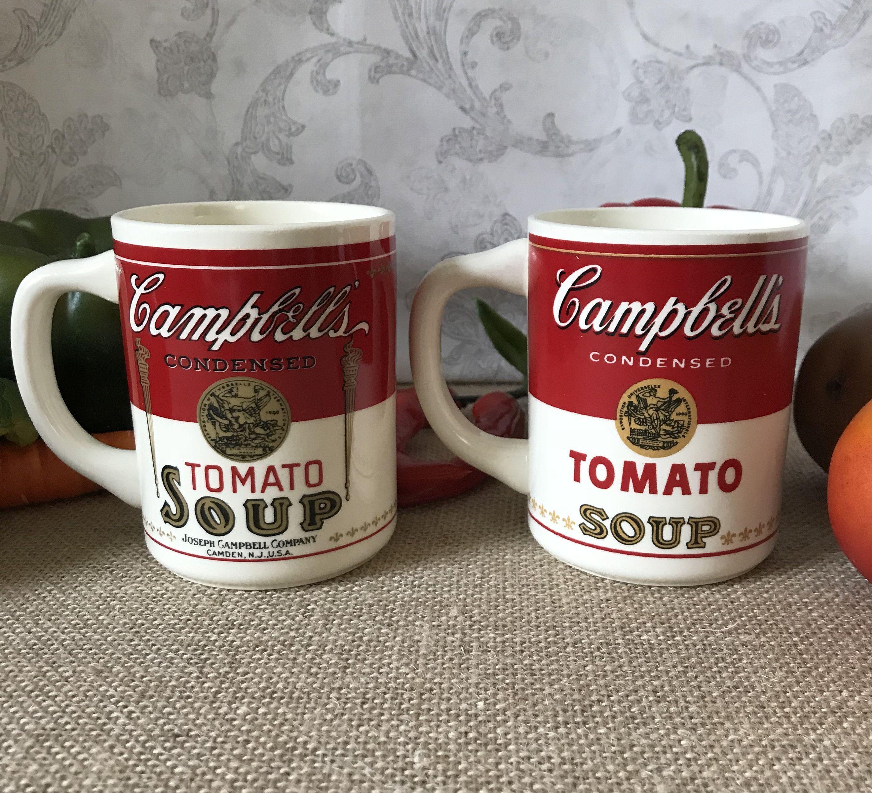 3716d0fe154 Set of 2 Campbell's Tomato Soup Mugs, Ceramic Mug Set, Made in USA ...