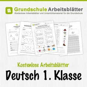 Kostenlose Arbeitsblätter und Unterrichtsmaterial für den Deutsch in ...