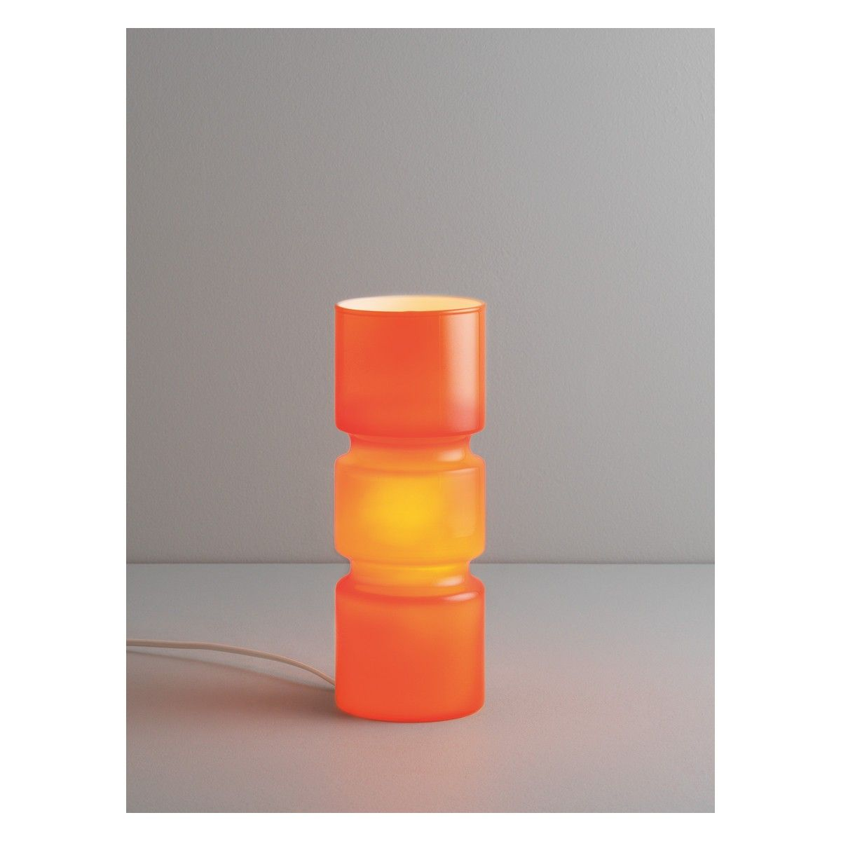Orange table lamp peugen fitz orange glass table lamp glass table lamps glass table and geotapseo Image collections