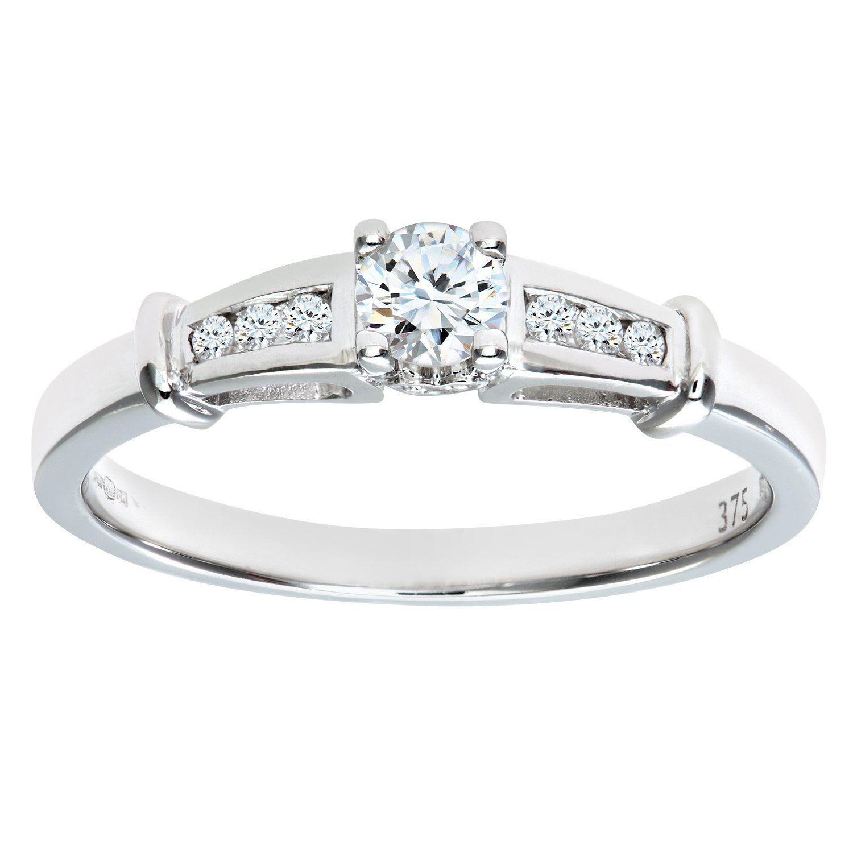 Naava 9ct White Gold Ladies Diamond Ring lxTYDB