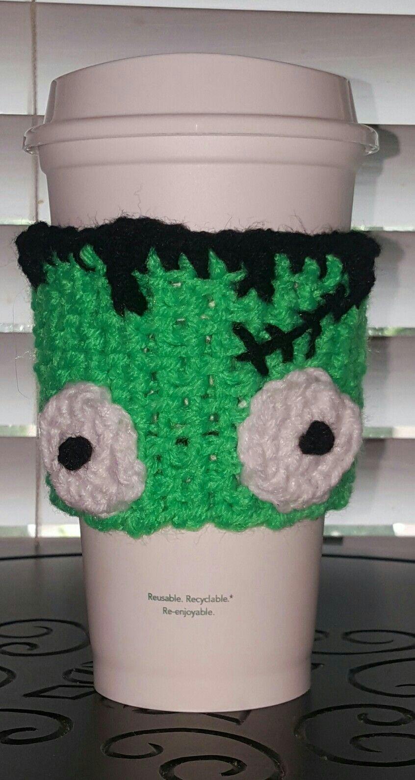 Frankenstein coffee cozy www.etsy.com/shop/divaandthewildman