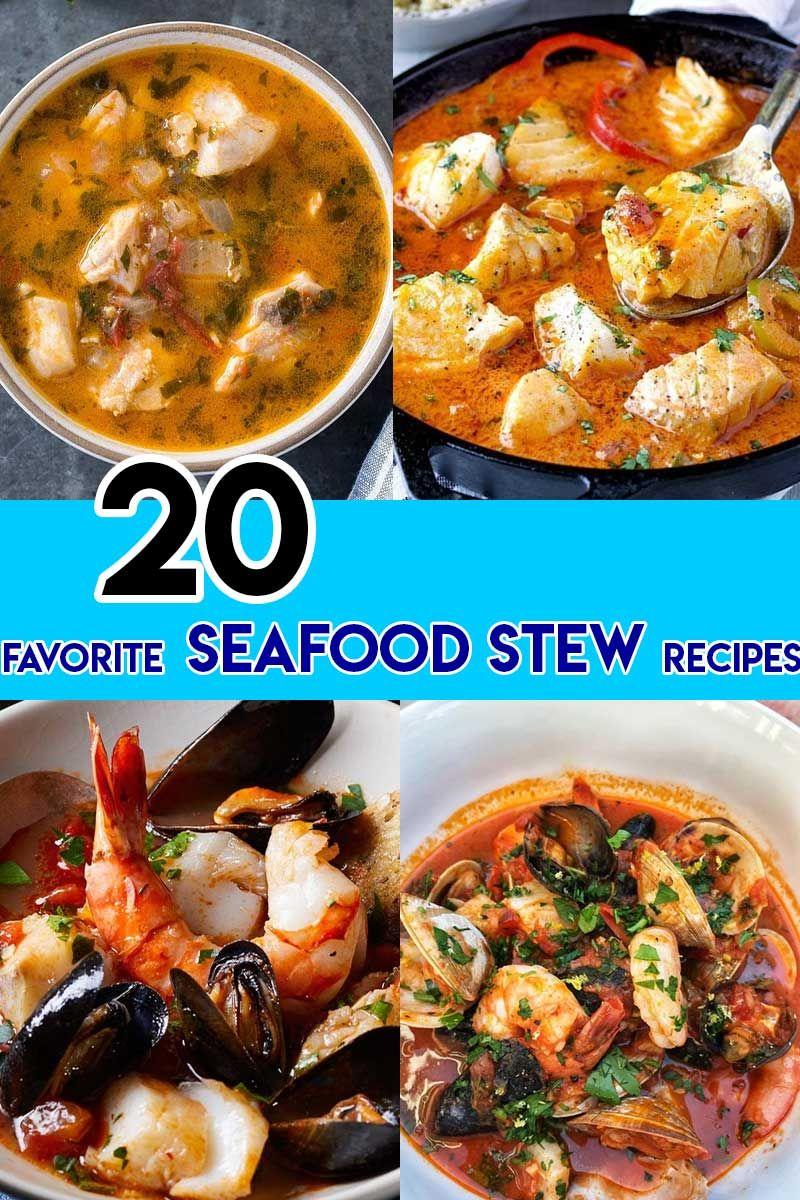20 Favorite Seafood Stew Recipes #seafoodstew