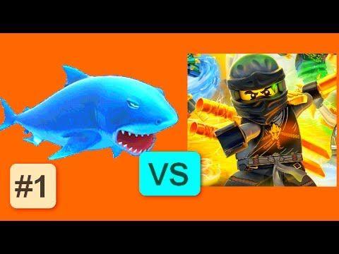Hungry Shark Evolution VS LEGO Ninjago WU-CRU #1 Android Gameplay ...