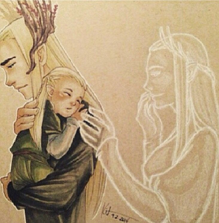 Thranduil, Baby Legolas and the spirit of a wife and ...