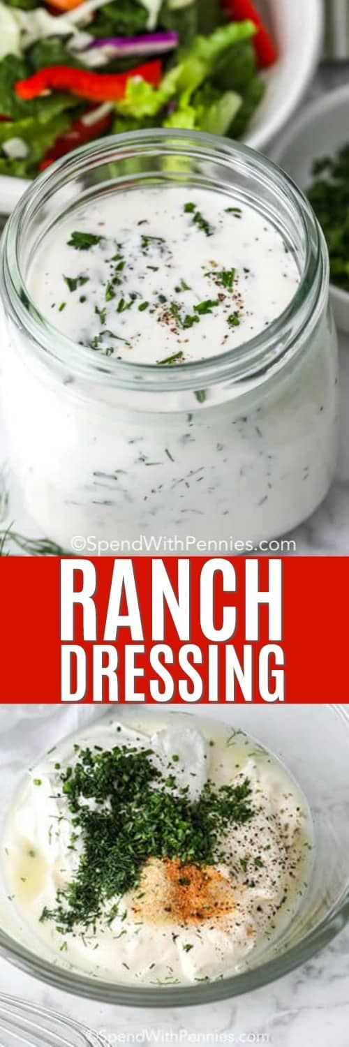 Ranch Dressing Is A Creamy Tangy Dressing That Is Delicious On Salad Or With Fresh Veggie Stic In 2020 Salad Dressing Recipes Homemade Fun Easy Recipes Ranch Dressing