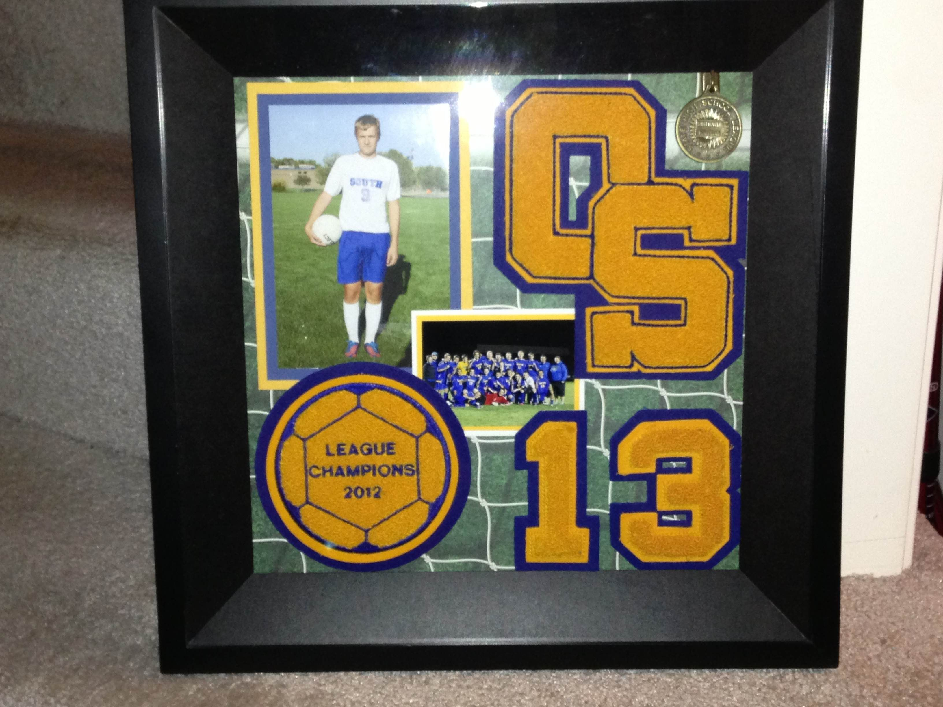 Varsity letter frame - another version to add the league champions ...