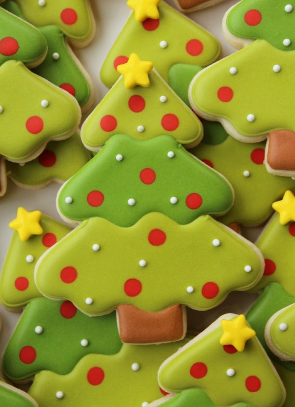 Trim the Tree With Treats Decorated Christmas Tree Cookies