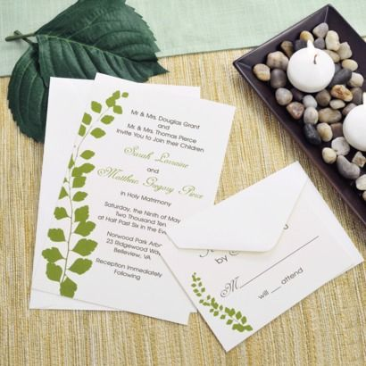 Let Your Wedding Invitations Emulate The Freshness Of Crisp Greenery With  Our Gorgeous Green Botanical Invitations Kits. Just As Refreshing As A  Spring Day ...